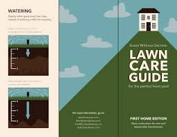 lawn care manual brochure on behance lawn care manual brochure outside