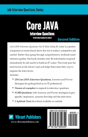 core java interview questions you ll most likely be asked job core java interview questions you ll most likely be asked job interview questions series vibrant publishers 9781452854649 amazon com books