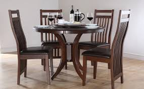round black wood dining room