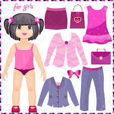 29 best photos of paper doll cut out clipart