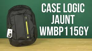"Распаковка <b>Case Logic Jaunt</b> 15.6"" WMBP115GY - YouTube"
