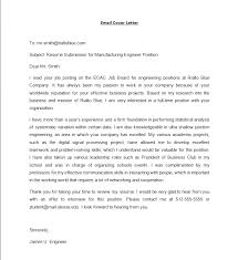 sample format and template format email cover letter