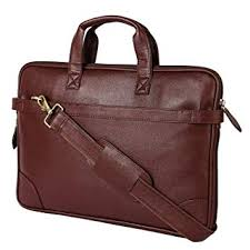 <b>Flanker</b> 100% Leather Synthetic Hard Shell Laptop <b>Bag</b>: Amazon.in ...