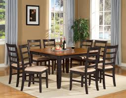 chunky dining table and chairs dining room and awesome square dining table fo home design intended for  seater black dining