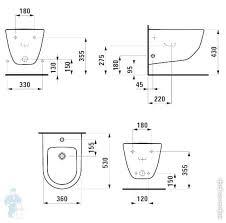 <b>Биде подвесное Laufen</b> PRO 830952 (360х530х335) 2 отверстия ...
