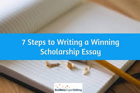 steps to writing a winning scholarship essay