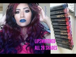 NEW L.A GIRL <b>Matte Flat Velvet</b> Lipsticks   LIP SWATCHES ON ALL ...