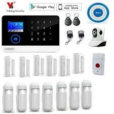 <b>Yobang Security wireless wifi</b> gsm alarm system TFT display door ...