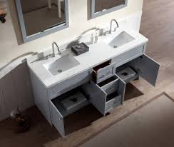 quartz countertop bathroom ariel hamlet quot double sink vanity set with white quartz countertop