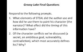 th english do now asked students to comment on the credibility of the narrator of greasy lake reviewed syllabus and independent reading project