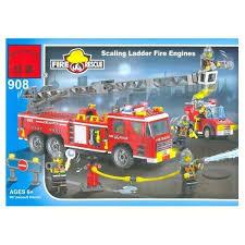 ᐅ <b>Enlighten Brick Пожарные</b> 908 <b>Пожарная</b> машина с лестницей ...