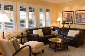 brown leather sectional family room traditional with none accent lighting family room