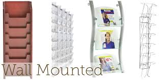 magazine rack wall mount: magazine racks for sale acrylic wood amp wire literature display racks amp stands wall mounted magazine holders