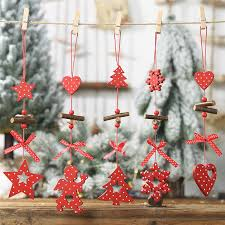 Happy New Year <b>Wooden</b> Christmas Pendants Decorations ...
