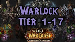 World of Warcraft - Warlock Tier 1 to 17 All Armor Sets - YouTube