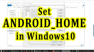 How to <b>set</b> ANDROID_HOME and environment variable for Android ...