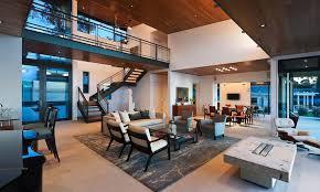 open plan kitchen living room house modern