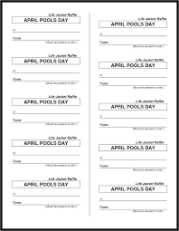 best images of printable blank raffle tickets ticket it