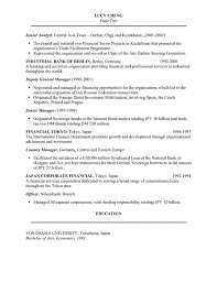 banker resume example investment banking resume format