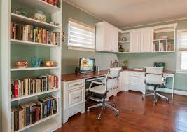 wondrous corner white home office design built in office furniture ideas