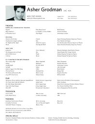 resume format resume samples rodman union affiliation sag aea