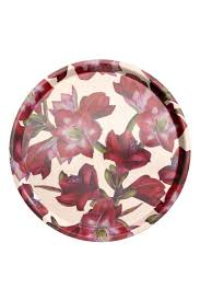 Round Tray - White/<b>amaryllis</b> - Home All | H&M US