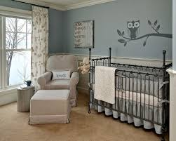 vintage looking small room baby boy nursery ideas with large owl big eyes standing on tree decals baby nursery ideas small