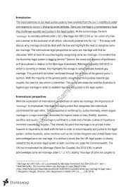 same sex marriage essay      ethics  law and justice   thinkswapsame sex marriage essay
