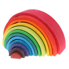 Wooden <b>Rainbow Blocks 12 Colors</b> Stacking <b>Blocks</b> Construction ...