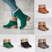 <b>Women's Boots Ladies</b> Winter <b>Round</b> Toe <b>Shoes Flock</b> Warm Martin ...