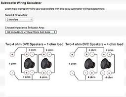 ohm dual voice coil wiring diagram wiring diagram subwoofer dual voice coil wiring auto diagram