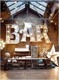 industrial interior bar light marquee letters vintage sign diy lighting home bar lighting ideas
