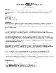 intelligence analyst   linkedinsignals intelligence analyst resume