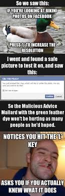 Good Guy Facebook vs. Malicious Advice Mallard via Relatably.com