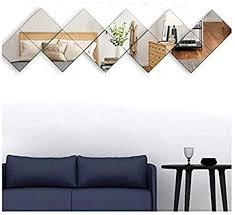 Beauty4U <b>Glass</b> Full Length <b>Mirror Wall</b> Mounted 10PCS 8.7x8.7 ...