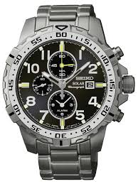 seiko mens solar chronograph watch ssc307p9