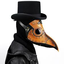Leather Face Mask <b>Steampunk Plague</b> Doctor Bird <b>Halloween</b> Beak ...