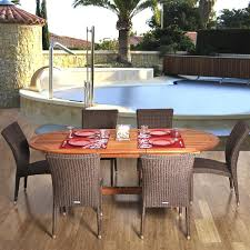 extension table f: amazonia le mans  person patio dining set