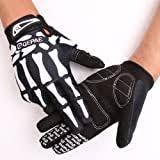 madbike full finger <b>skeleton</b> motocross riding gloves for <b>motorcycle</b> ...