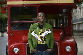 Image result for usain bolt spikes london olympics