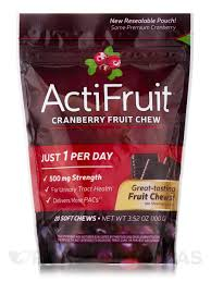 <b>ActiFruit</b>™ <b>Cranberry Fruit Chew</b> - 20 Soft Chews
