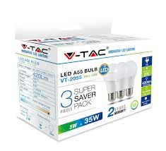 <b>LED</b> Bulbs: <b>LED</b> Bulb <b>5W</b> E27 A55 Thermoplastic Warm White <b>3pcs</b> ...