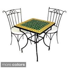 Sale +!+Square Iron <b>3</b>-piece <b>Mosaic</b> Dining <b>Table</b> Set (Morocco ...