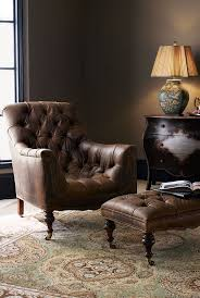 design ideas betty marketing paris themed living: old hickory tannery tufted leather chair amp ottoman
