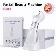 Facial Beauty Machine 6 in 1 EMS <b>RF Photon Therapy</b> Facial Skin ...