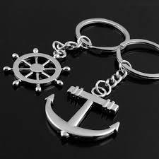 <b>BK</b>  Couple Love Navy Style Anchor Ship Wheel Rhinestone <b>Alloy</b> ...