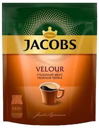 Купить <b>Кофе растворимый Jacobs Velour</b> с пенкой, пакет, 140 г по ...