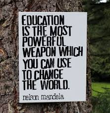 "11x14 Artist Canvas - ""Education is the most powerful weapon ... via Relatably.com"