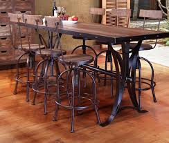 wicker bar height dining table: antique bar height dining table and chairs picture