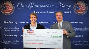 one generation away roots of liberty essay contest winner george tryfiates receives prize on d c trip meets contest judges scholar roger pilon